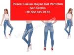 İhracat Fazlası Bayan Kot Pantolon Toptan Satış İstanbul